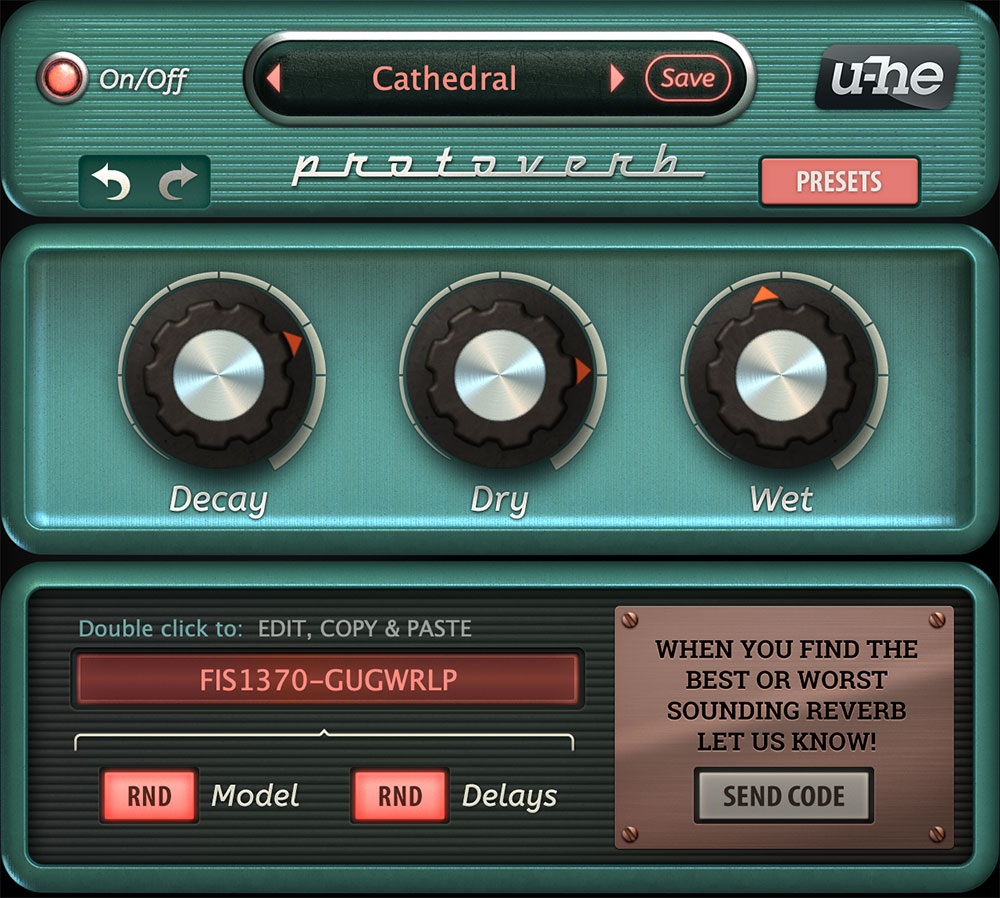 Protoverb main interface
